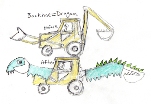 BurningBackhoe